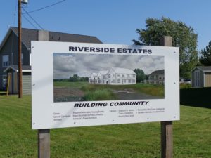 Antigonish Affordable Housing - Sign Riverside Estates
